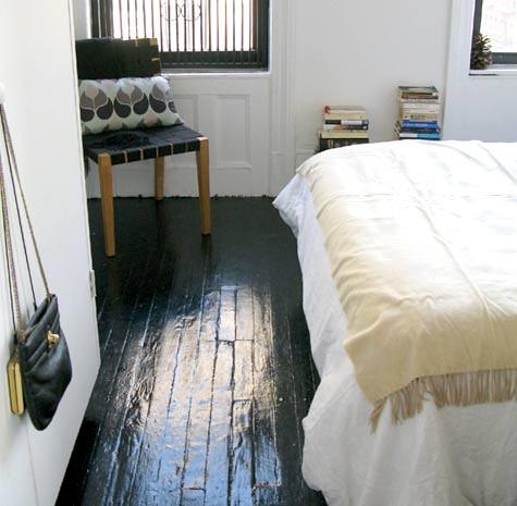 Painted black floors. | Door Sixteen