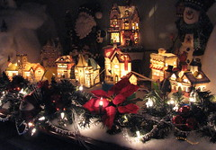 Christmas Village (clickclique) Tags: christmas decorations catchycolors lights village noel breathtaking explore260 afterdarknightphotography champagnemoments photosthatrock goldstaraward christmasworldwide