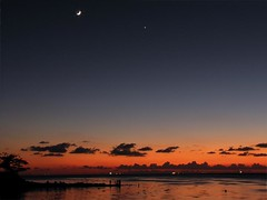 Celestial (Sangeeth VS) Tags: sunset sea sky cloud moon india water night clouds canon star evening dusk kerala s2is cochin celestial greatphoto sangeeth fortkochi fortcochin