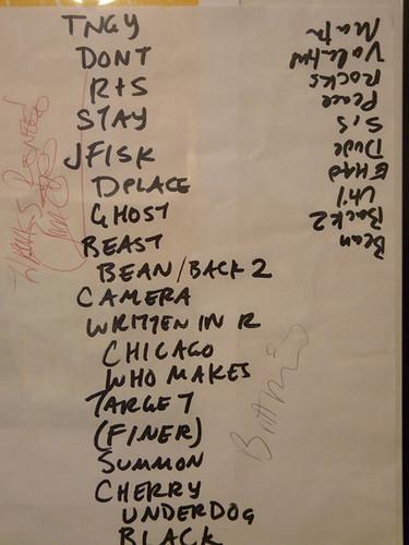 night 1 setlist
