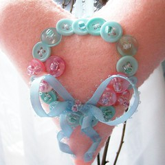 pink heart ornament with aqua buttons wreath (Beyond.the.Box) Tags: heart buttons decoration felt christmastree wreath ornament plushie ribbon christmasornament embellished pinkandblue heartshaped glassbeads encrusted holidaydecor shabbychic gifttags thinkoutsidethebox victoriandecor buttonwreath childrensdecor aquaandpink thinkoutsidethebox2008 plushheart wreathbow cascadingbow
