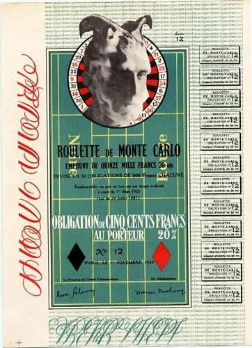 Duchamp: Monte Carlo Bond, 1924