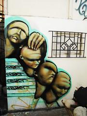 faber x 4 (- FABER -) Tags: graffiti lima perú heads cabezas 2008 intervention faber graffitiperuano
