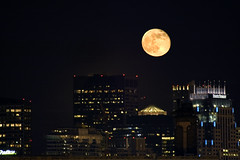 Full Moon over Boston *E#11 (Craig Stevens <castevens12>) Tags: moon boston skyline downtown radisson massachusetts uc ymca underconstruction bostonma whotel dormatory northeasternuniversity theatredistrict statestreetbank