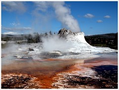 Castle Geyser of Yellowstone (Tracey Tilson Photography) Tags: 2005 vacation castle nature june nikon colorful yellowstone geyser picnik castlegeyser ec storybookwinner