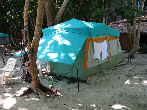 Luxurious tents at Lao Liang