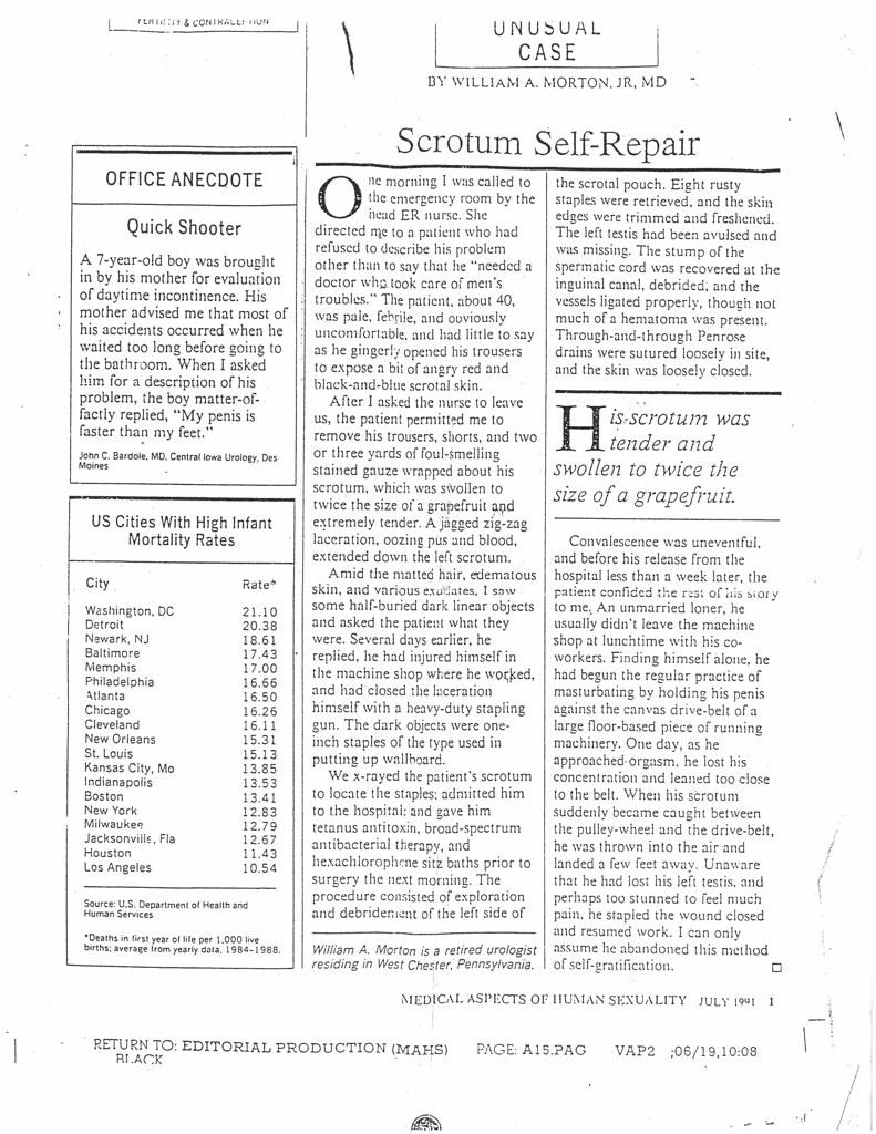 Scrotum Self-Repair