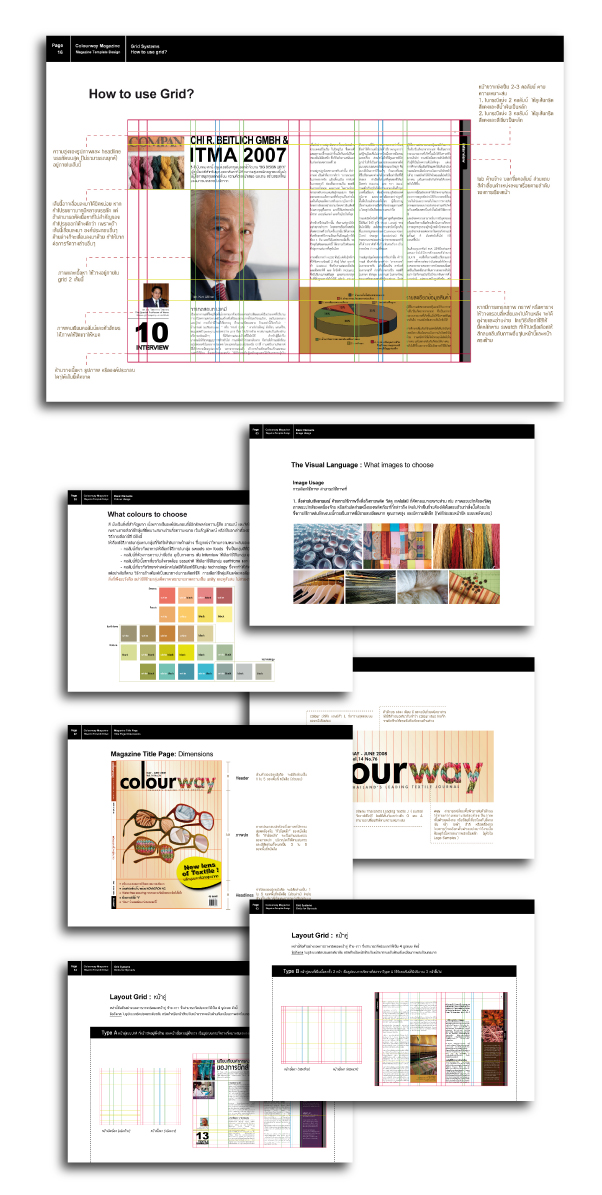 Title / Layout Design (Guideline & Templates) Client / Colourway, Magazine