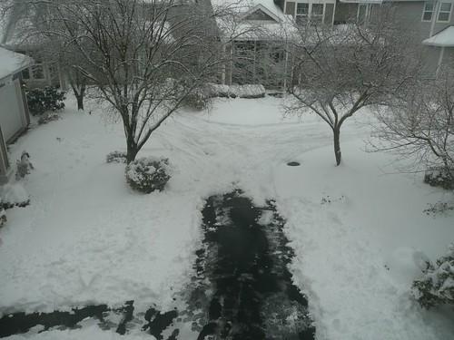 driveway shoveled