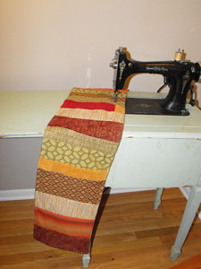 Completed table runner