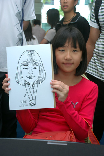Caricature live sketching at Singapore Art Museum Christmas Open House - 14