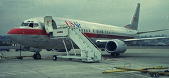 US Air 737 (So Cal Metro) Tags: plane airplane airport san sandiego aircraft aviation jet airline boeing 1980s airliner 737 usair usairways lindberghfield 737400 734