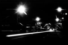 (Raoule {}) Tags: street bw film night speed nb 80s 135 nuit nikonfe paris13 vitesse pontdetolbiac lomalet