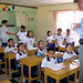 Dale talks to a class at Colegio Peniel