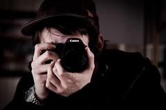 Autoportrait (Explored) (Nicolas Giraud) Tags: camera portrait self canon mirror photo lightroom eos450d