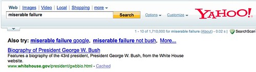 Miserable Failure @ Yahoo