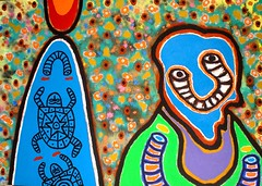 canvas DSC00212 (totem3xperu) Tags: africa peru cuzco icons drum drawing surrealism magic dream masks mito myth precolumbian sueño nazca peruvian tambor sudamerica mascaras totem3x castillabambaren totem3xperu