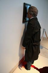 Jan Fabre getting a Nosebleed (Adams K.) Tags: paris art museum louvre reis frankrijk nocturne fabre parijs werk janfabre