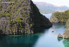 Arrival (chriscab) Tags: blue sea sky mountains water philippines greens coron palawan naature lpfloating