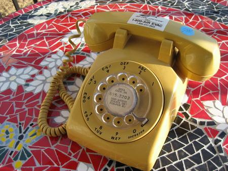 Vintage Mustard Rotary Phone