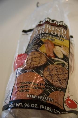 Kirkland burgers 15% fat?