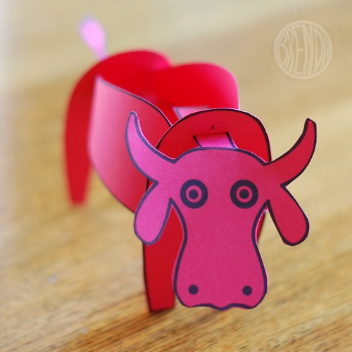year of the ox paper craft