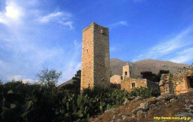 Πελοπόννησος - Λακωνία - Δήμος Ανατ. Μάνης Πύργος στο χωριό Κοίτα, Μάνη