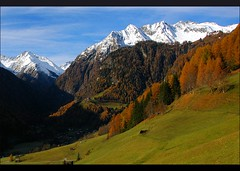 Virgental Valley (our cultural archive) Tags: snow mountains alps green nature landscape austria village fallcolor hiking snowcapped alpine osterreich cate venediger copenhaver oarsquare virgentalvalley tiroleanvalley