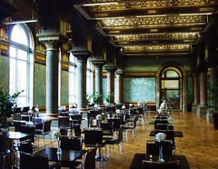 The Victorian Tiled Hall Cafe in Leeds Art Gallery (Tony Worrall) Tags: city uk england urban hall photo cafe image room yorkshire north stock leeds victorian tony seats tables gb british northern yorks worrall westyorks thevictoriantiledhallcafe ©2011tonyworrall