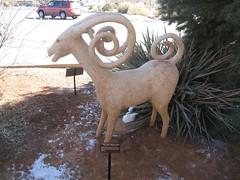 Ram Statue (reflectification) Tags: sculpture statue utah desert moab desierto blanding edgeofthecedars