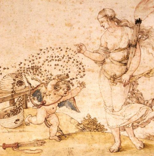cupid the honey thief (detail)