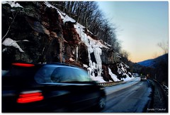 The Rush At Catskill (Ronaldo F Cabuhat) Tags: winter mountain snow ice rocks ravine panning kaaterskillfalls catskill fastcars catskillmountains canoneosdigitalrebelxti palenvillenewyork cabuhat therushatcatskill