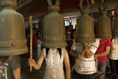 Bell ringing-Thailand (kinginexile) Tags: life festival asia buddha religion ceremony silhouettes buddhism mirrorsofsociety puja pattaya chonburi itsong–mirrors–southeastasia makhapuja earthasia