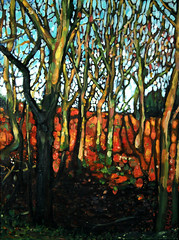 Tree Study V (Rick_Dickinson) Tags: light colour oak artist branches study oilpainting oaktrees wigan filigree dappledsunlight treestudy rickdickinson crowlanestudio