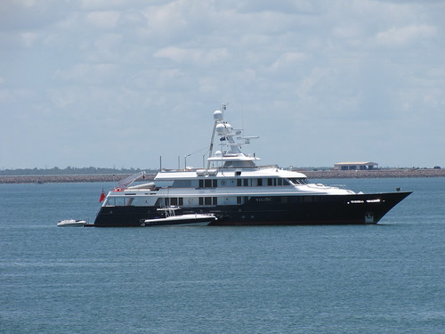 Motor Yacht Helios in Darwin Harbour February 2009