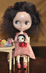 Lola celebrates new hairs & ladybird dolly!