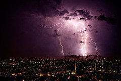 Lightning over Manila, Philippines (javajive) Tags: storm 35mm lenstagged philippines manila electricity lightning makati 2010 35mml canonef35mmf14lusm