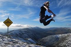 Rebel Jump (phunnyfotos) Tags: blue sky snow mountains sign clouds moving jump australia victoria alpine nojumping northeastvictoria inmovimento flickraward dragondaggeraward nikonflickrawardgold flickrunitedaward flickraward5 flickrawardgallery phunnyfotos