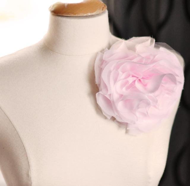 DIY французского шифона Пуф контактный цветок