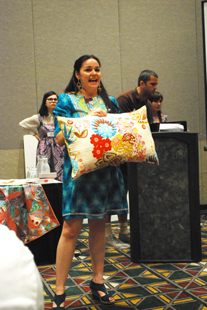 Anna Maria with pillow