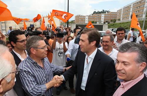 Pedro Passos Coelho visita à Misericórdia e arruada  Arcos de Valdevez