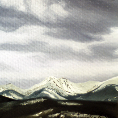 Mountain painting - finished