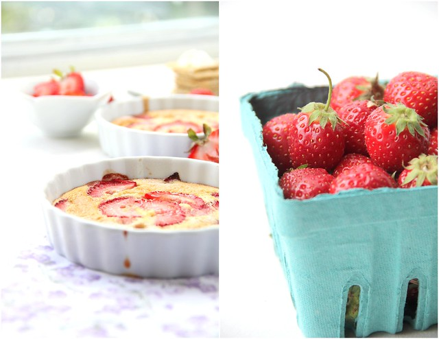 Summer Strawberry flan