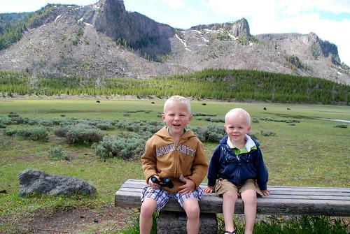 nephews at Yellowstone