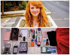 Jessica Diptych (J Trav) Tags: thread sunglasses gum keys necklace diptych ipod phone jessica wallet gloves earrings nintendods pens nailpolish zippo visine chapstick d40