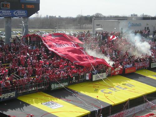 Toronto Fans In Crew Stadium