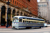San Francisco Streetcar 1060 (Ame Otoko) Tags: sanfrancisco street city urban classic lensbaby train grey movement san francisco image artistic market sale trolley stock busy commercial rush vehicle streetcar rushed d40