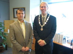 Mayor Trasolini and Sean