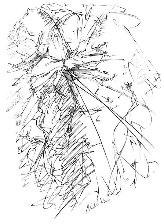 Digital Art - Jzz Flutz by Nicholas M Vivian