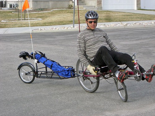 Bicycle Trailer and golf clubs42